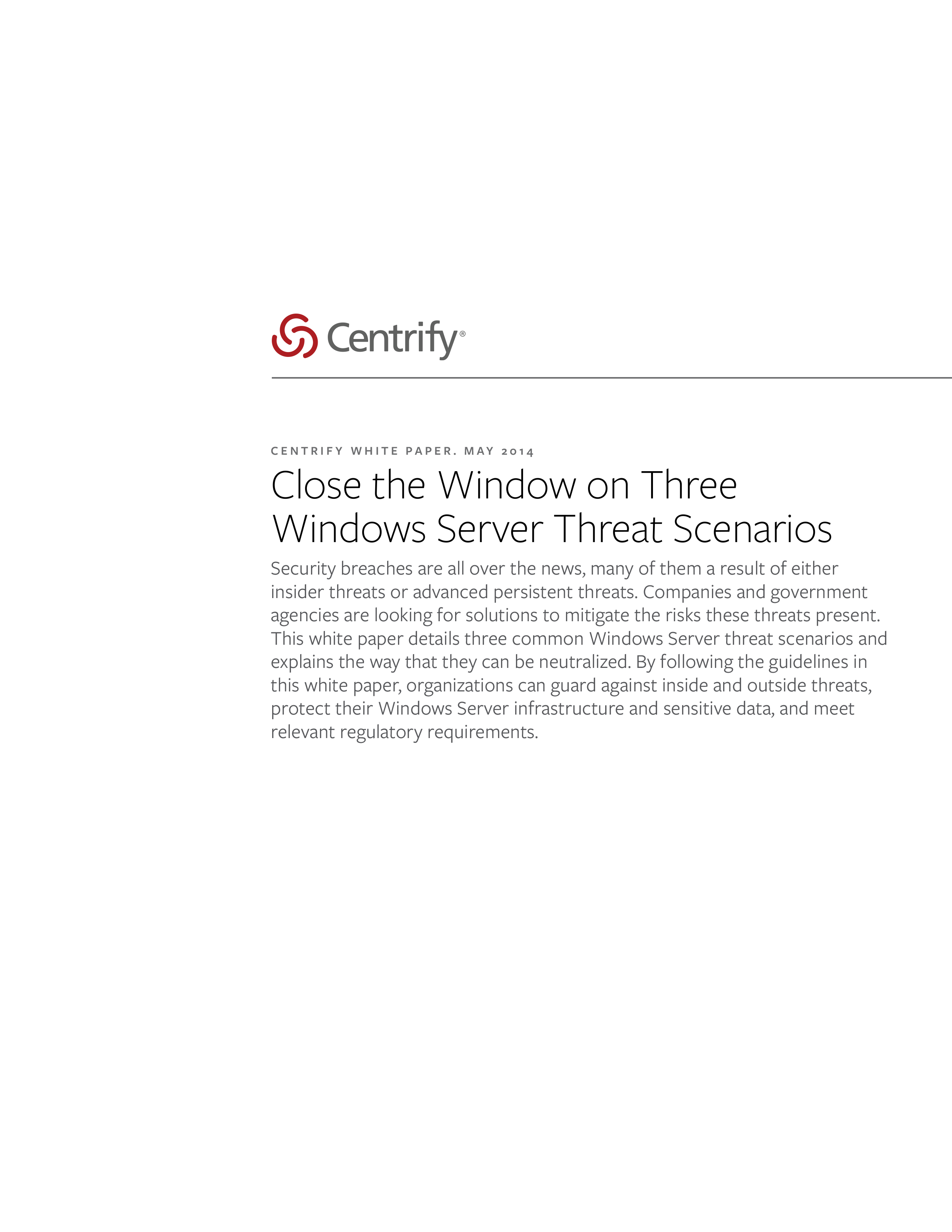 Close the Window on Three Windows Server Threat Scenarios