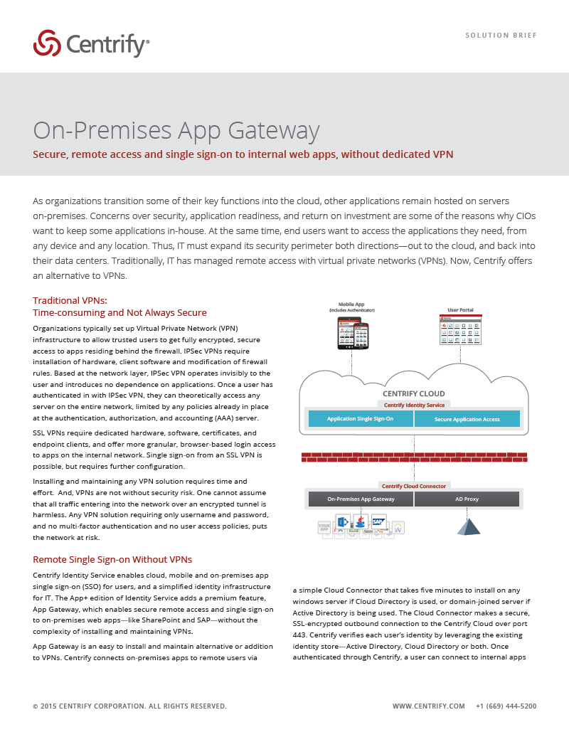 On-Premises App Gateway