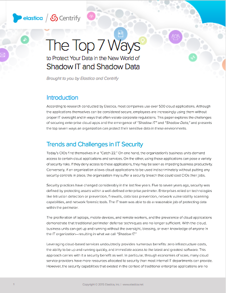 The Top 7 Ways to Protect Your Data in the New World of Shadow IT and Shadow Data