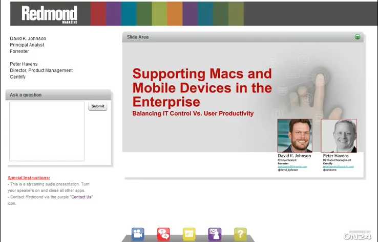 Supporting Macs and Mobile Devices in the Enterprise: Balancing IT Control vs. User Productivity