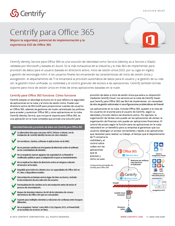 Centrify for Office 365 - Spanish