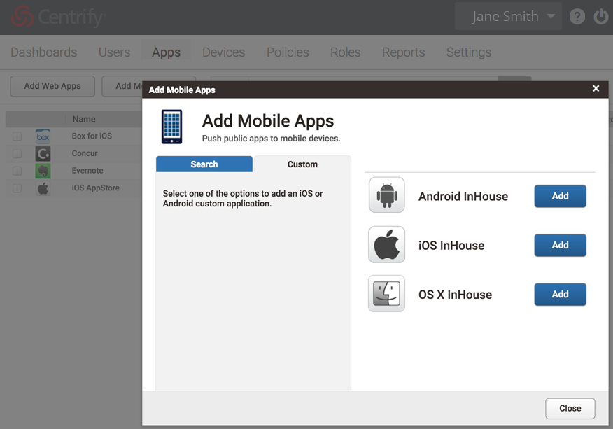 Mobile Mac Application Management
