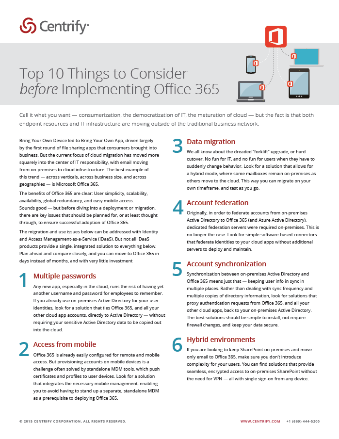 Top 10 Things to Consider Before Implementing Office 365
