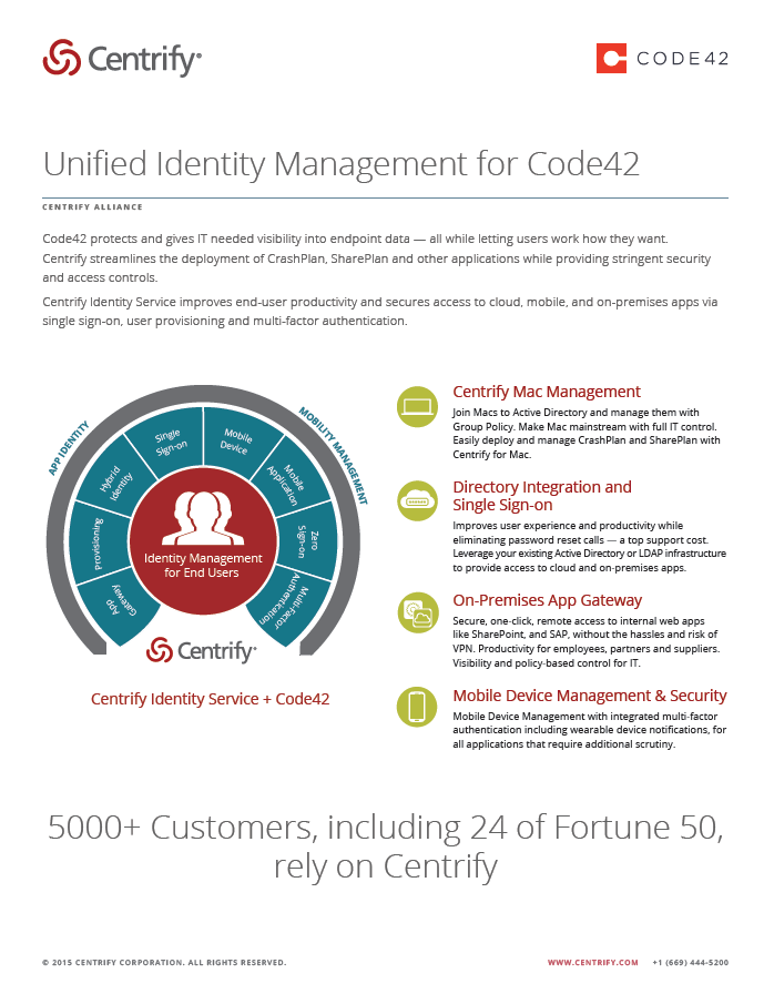 Centrify Alliance - Unified Identity Management for Code42