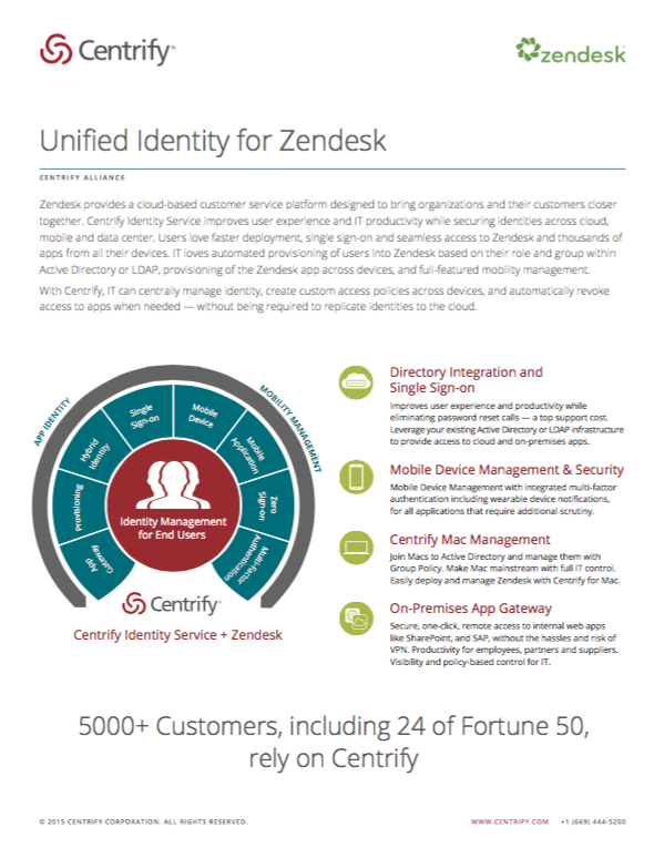 Centrify Alliance - Unified Identity Management for Zendesk