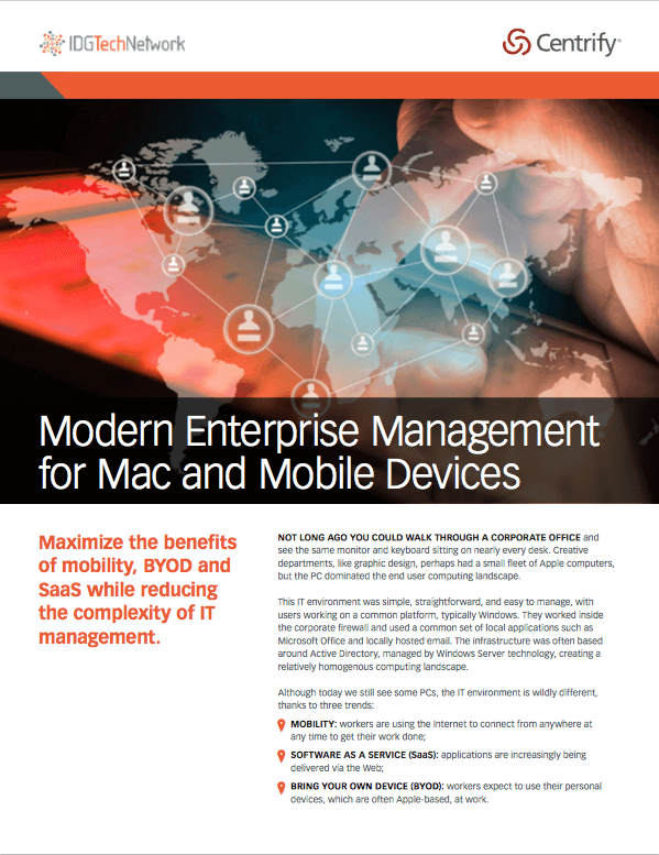 Modern Enterprise Management for Mac and Mobile Devices