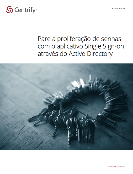 Pare a proliferação de senhas com o aplicativo Single Sign-on através do Active Directory