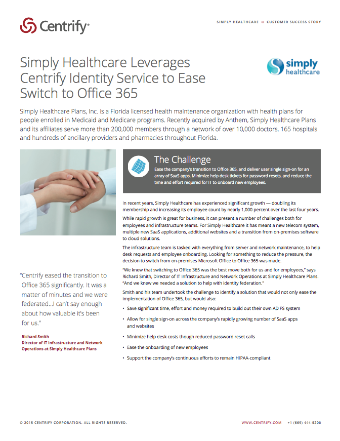 Simply Healthcare Case Study