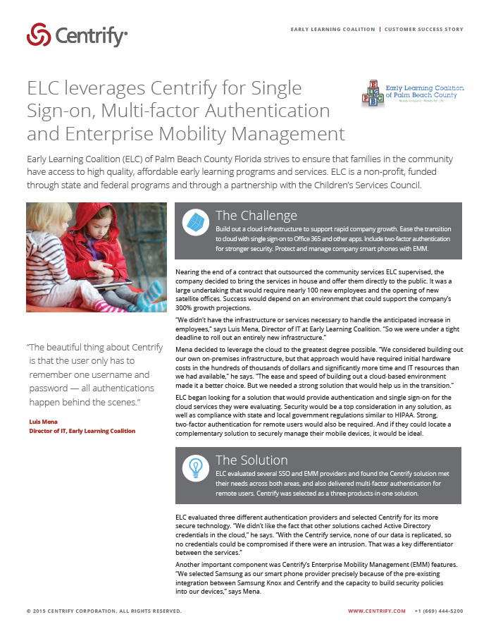 Early Learning Coalition Case Study