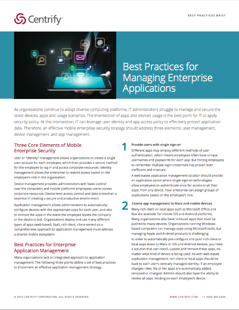 Best Practices for Managing Corporate Applications