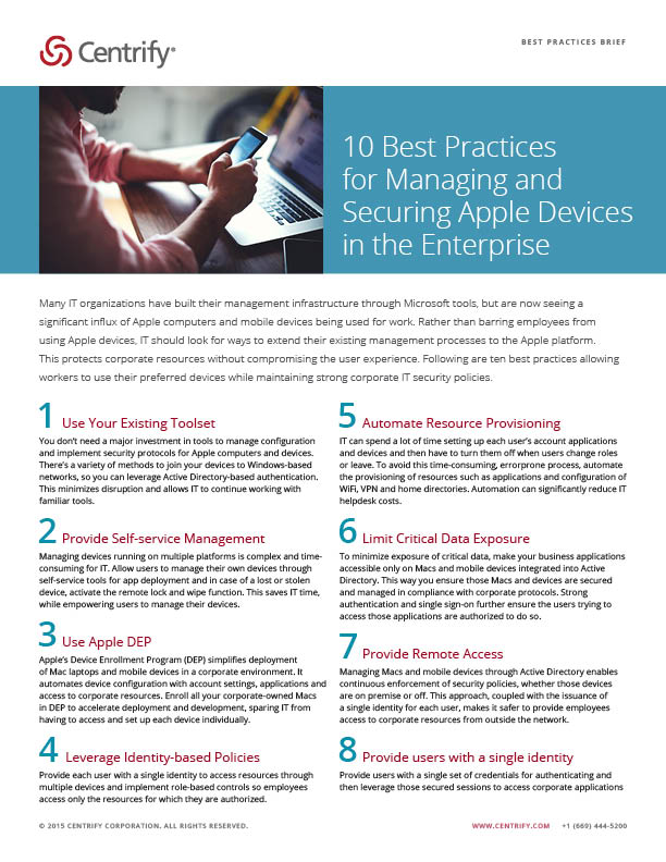 10 Best Practices for Managing and Securing Apple Devices in the Enterprise