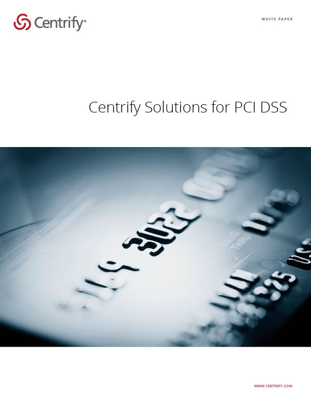 Centrify Solutions for PCI DSS