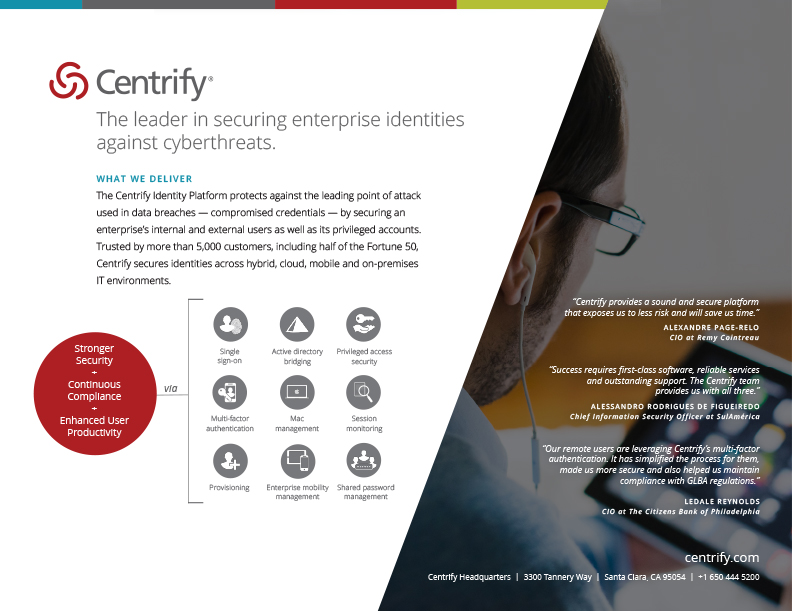 Centrify Corporate Overview