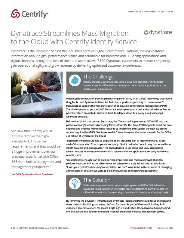 Dynatrace Case Study