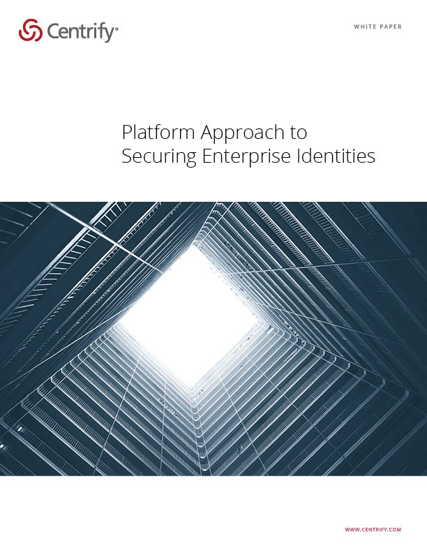 Platform Approach to Securing Enterprise Identities