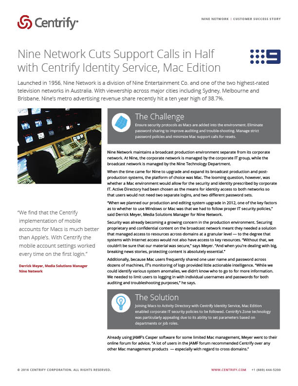 Nine Network Case Study