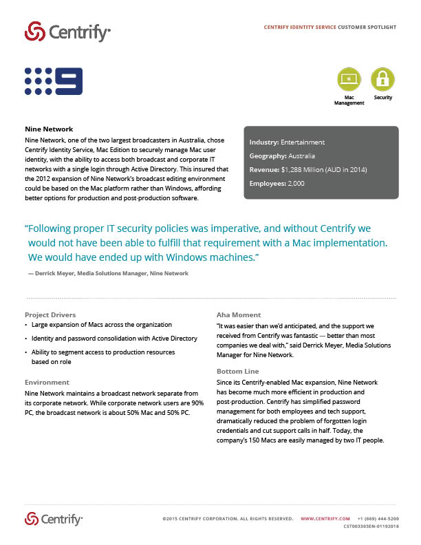 Nine Network Customer Spotlight