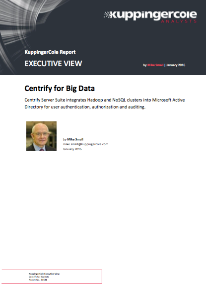 KuppingerCole: Centrify for Big Data