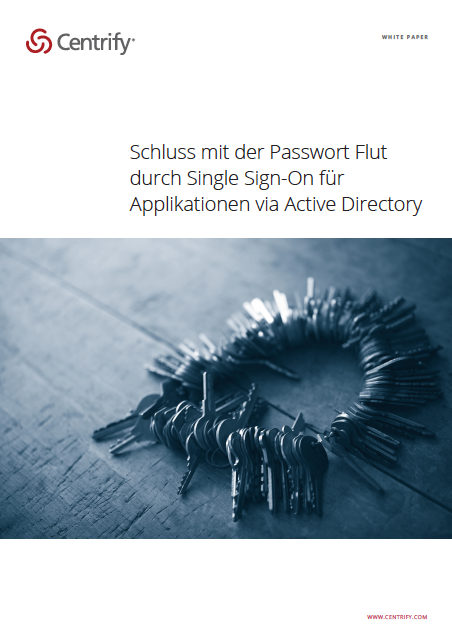 Schluss mit der Passwort Flut durch Single Sign-on für Applikationen via Active Director