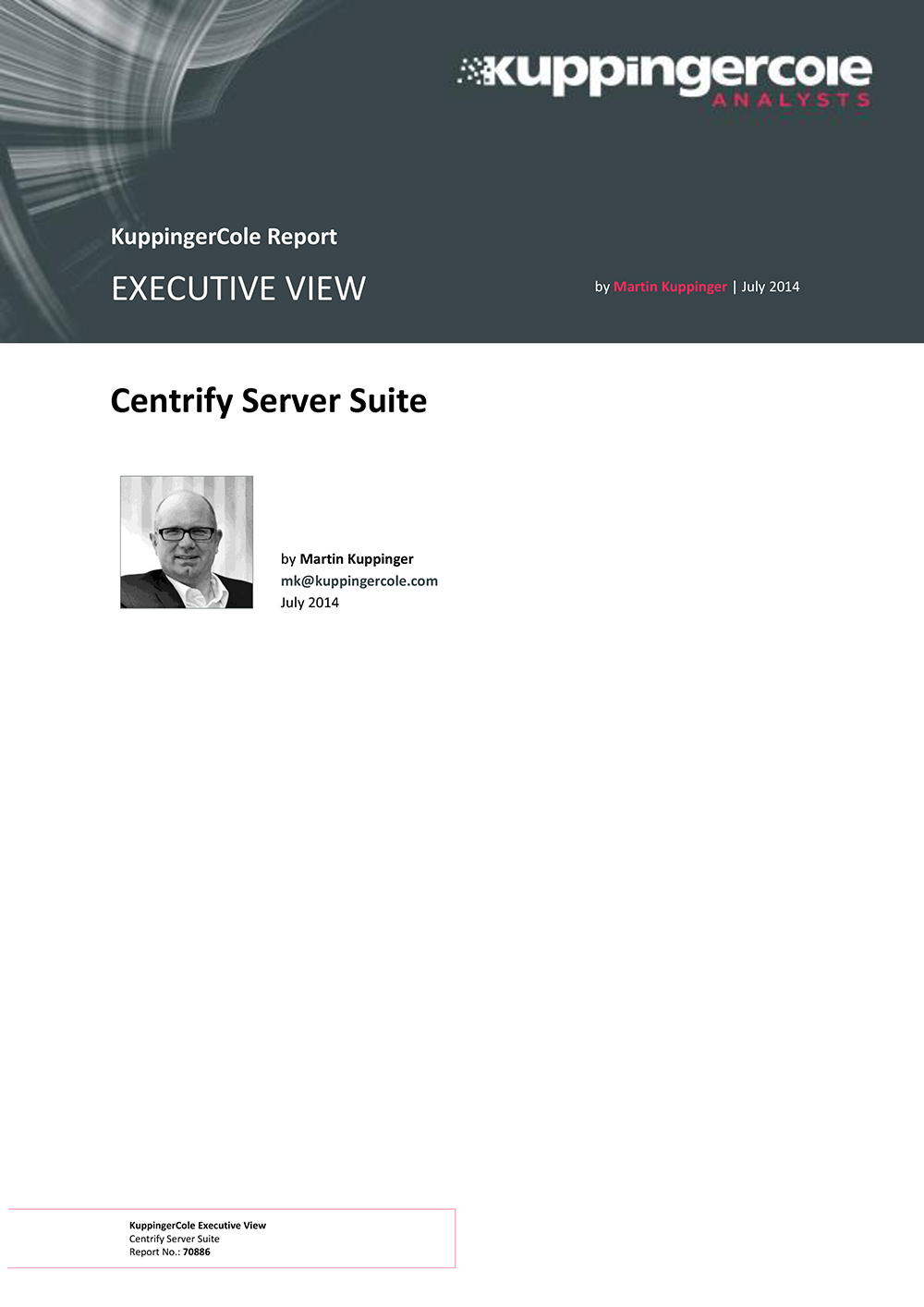 KuppingerCole: Centrify Server Suite