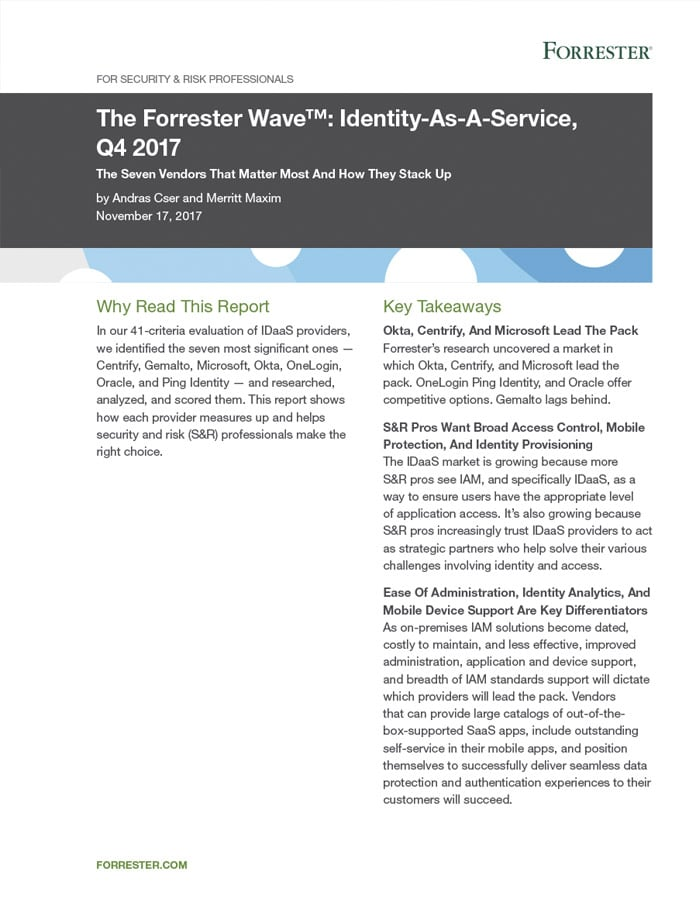 Forrester: Centrify Named Leader in Latest Forrester Wave™: Identity