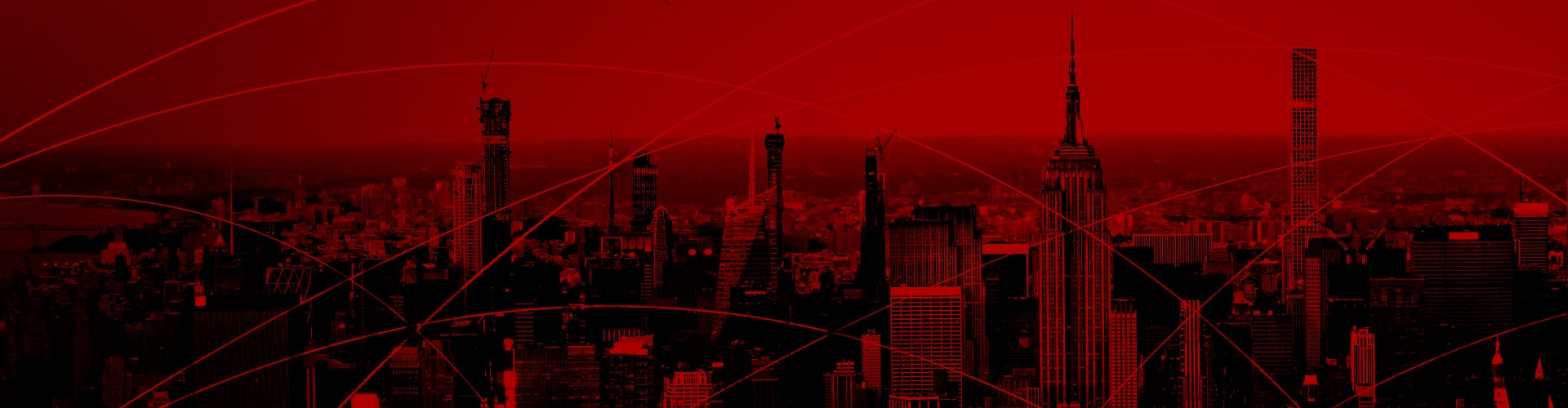 background image of cityscape with red tint