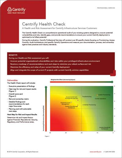 Centrify Health Check