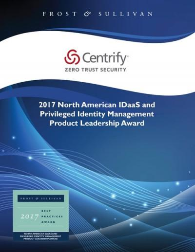 Frost & Sullivan: 2017 North American IDaaS and PIM Product Leadership Award
