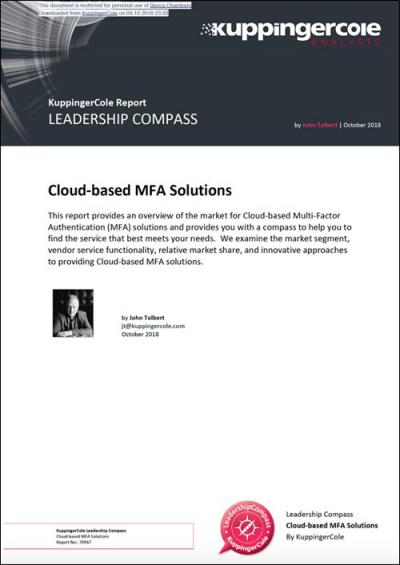 KuppingerCole Leadership Compass 2018 Cloud-based MFA Solutions