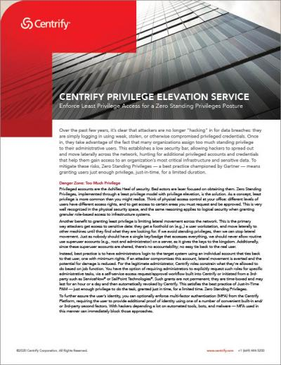 Privilege Elevation Service