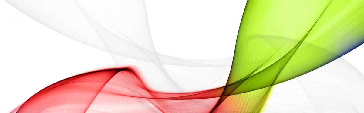 a ribbon shape as a color gradient using red and green colors
