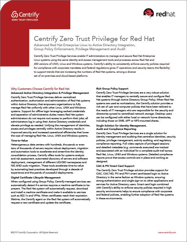 centrify-solutions-redhat