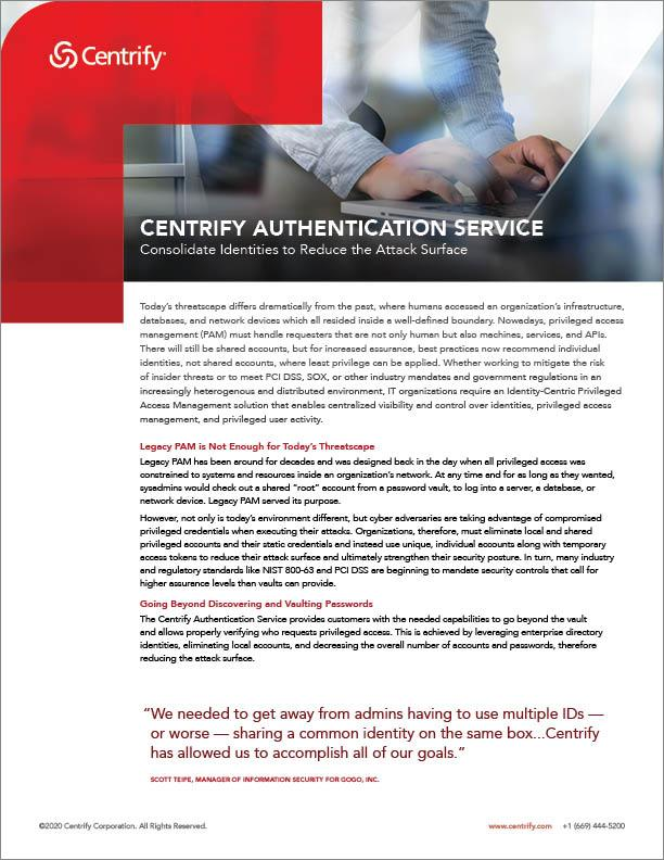 Centrify Authentication Service
