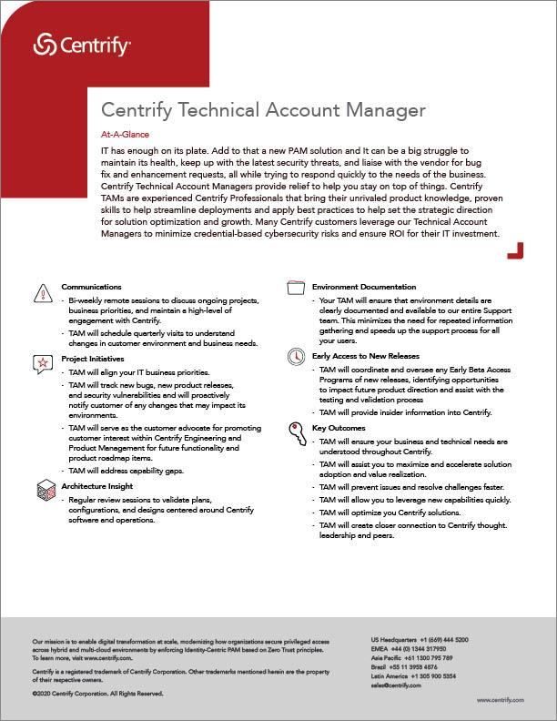 Centrify Technical Account Manager