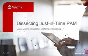 Dissecting Just-in-Time PAM