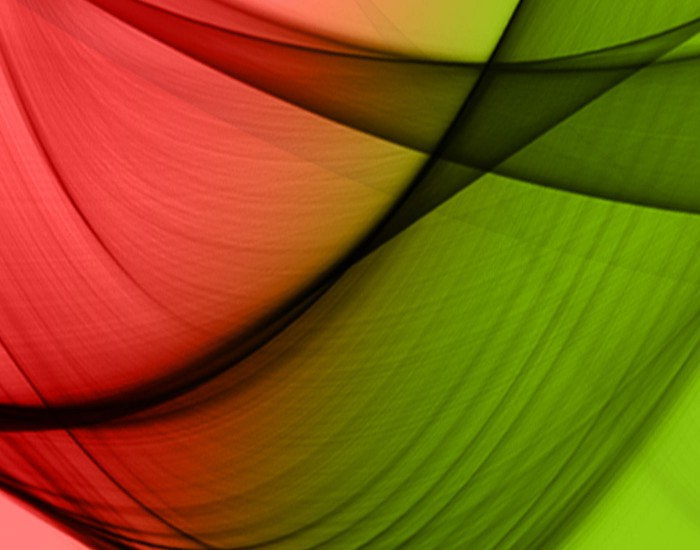red and green colors forming a ribbon gradient