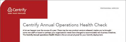 Centrify Annual Operations Health Check