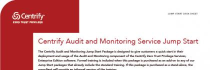 Jump Start: Centrify Audit and Monitoring Servicee