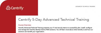 Centrify 5-Day Advanced Technical Training