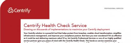 Centrify Health Check Service