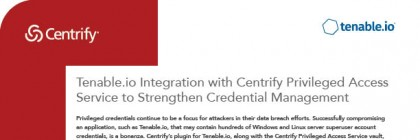 centrify tenable solution brief