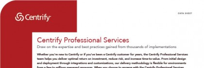 Centrify Professional Services data sheet