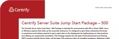 Centrify Server Suite Jump Start Package – 500